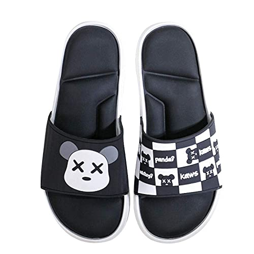 MISS KANG Pantuflas suaves de verano para mujer, calamar en la calle de sésamo, hombres y mujeres-negro_42-43, sandalias planas suaves para interior Qingchunw (color: negro, tamaño: UK9UK9.5)