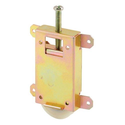 PRIME-LINE N 6870 Mirror Door Roller Assembly, 1-1/2 in., Steel Housing & Ball Bearings, Concave Plastic Wheel