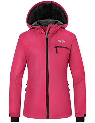 Wantdo Women's Mountain Windproof Skiing Coat Winter Snowboard Jacket Red M