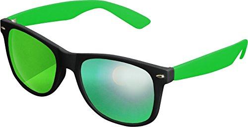 MSTRDS Likoma Mirror Unisex Sonnenbrille Für Damen und Herren mit verspiegelten Gläsern, black/kelly/green