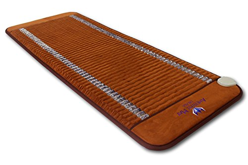 "Ereada Far Infrared Amethyst Mat - 59'L x 24""W Midsize - Adjustable 86-158F Deep Impact FIR Heating - Jewelry Natural Crystals - Negative Ions - FDA Registered Manufacturer - Original Korean Quality"