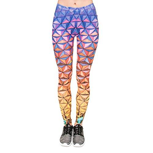 Demarkt Dameslegging yogabroek dames sportlegging joggingbroek dynamisch geometrisch patroon