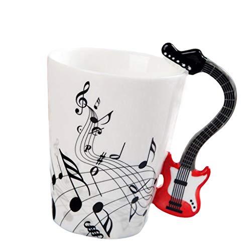 HomeDecTime Tazas de Cafe En Ceramica Diseño de Guitarra Taza de Porcelana...
