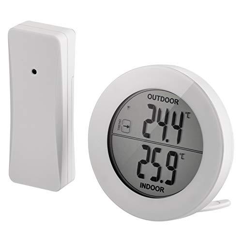 EMOS E0129 digitales Thermometer mit Außensensor, Außentemperatur und Innentemperatur Messer mit drahtlosem Funk Sensor, 80m Reichweite, Memory