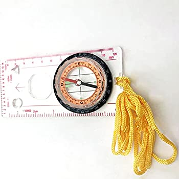 TAKE FANS Boussole en acrylique durable pour l'extérieur - Outil de cartographie professionnel pour la lecture de carte - Meilleur cadeau de survie