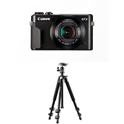 Canon PowerShot G7 X Mark II Digitalkamera mit klappbarem Display (20,1 Megapixel, 4,2-fach optischer Zoom, (7,5 cm (3 Zoll) LCD-Display, Touchscreen) schwarz + Mantona Scout