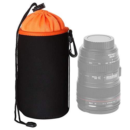 SLR Lens Camera Bag Micro Lens obiettivo singolo sacchetto interno Bile Bag Custodia protettiva impermeabile più velluto che ispessisce, diametro: 10cm, altezza: 18cm (arancione) (Colore: Arancione) 8