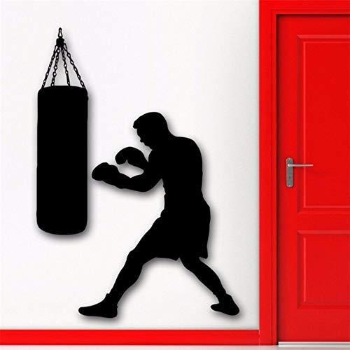Yologg 42X58 Cm Boxing Boxer Sport Wandtattoo Boxsack Martial Sport Wandaufkleber Vinyl Kunstwand Tapeten Für Jungen Schlafzimmer