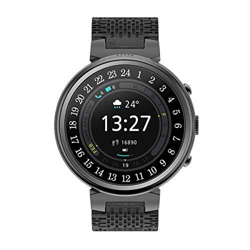 I6 Wasserdichte 1,3 Zoll OLED-Bildschirm Smart Uhr Sport Tracker Fitness Uhr Blutsauerstoffsättigung Blutdruck Pulsmesser Smartwatch (Schwarz)
