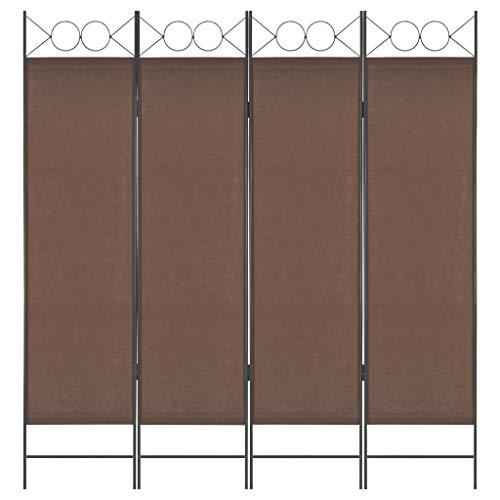 vidaXL Raumteiler 4-TLG. Klappbar Paravent Trennwand Umkleide Sichtschutz Spanische Wand Raumtrenner Raumtrennwand Schlafzimmer Braun 160x180cm
