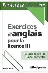 Exercices d'Anglais pour la Licence III Broché