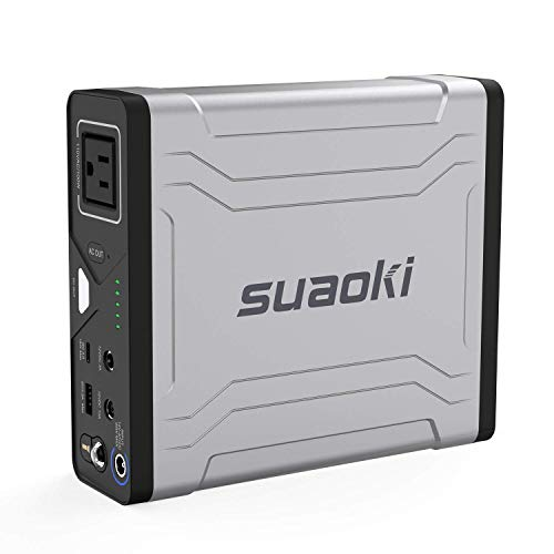 Portable AC Power Bank, SUAOKI 27000mAh/100Wh Laptop Charger External Battery Pack with 110V/100W AC Power Inverter and USB-C Quick Charge 3.0 Port for MacBook Air Iphone Camera Camping (G100)