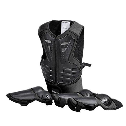 Sharplace Kinder Protektoren Set Kinder Schutzset mit Knieschoner Ellenbogenschoner Schutz Weste für Ski Snowboard Motocross Sport