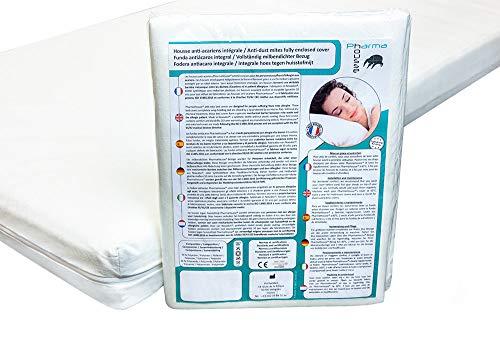 Pharma-Housse - Housse Anti-acariens intégrale pour Matelas - Dispositif médical - Garantie 10 Ans - Housse barrière sans Aucun Traitement ni plastification