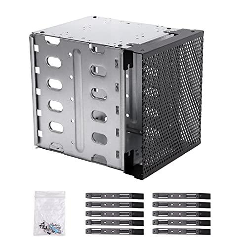 GeKLok Jaula de disco duro con espacio de ventilador de acero inoxidable para disco duro (tamaño: 1 unidad)