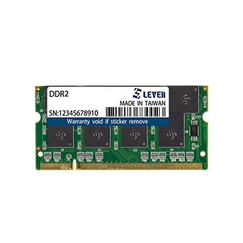 LEVEN DDR2 4GB (4GBx1) 800MHz PC6400 Non-ECC SODIMM PC Computer Laptop Memory Module Ram Upgrade- (JR2S800172208-4M)