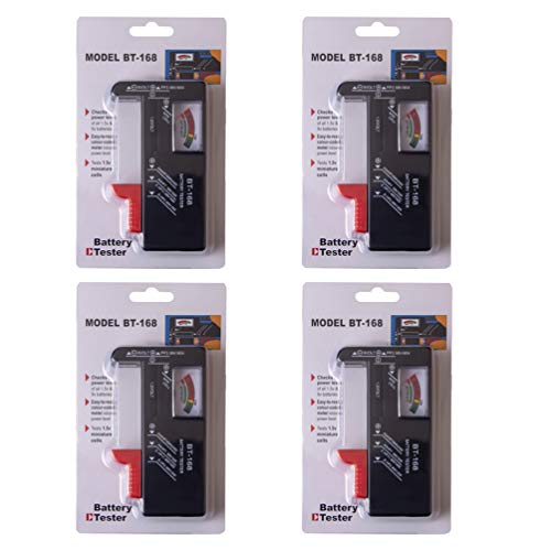 %20 OFF! DOITOOL 4PCS Battery Testers for AAA AA C D 9V 1.5V Button Cell Batteries,Universal Battery...