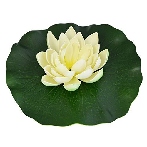 AMUR SOLAR TEICHPUMPEN Set SOLARPUMPE GARTENTEICH WASSERSPIEL SOLAR SPRINGBRUNNEN SOLARTEICHPUMPE (Lotus-Blume Weiß)