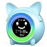 DingYue Time to Wake Sveglia per Bambini/Sonno Allenatore per Bambini/Bambini Sveglia Luce/Sonno Sonno/Luce notturna Colorata/Termometro Interno/NAP Timer (Cat)
