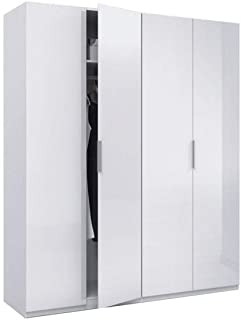 Habitdesign MAX054BO - Armario 4 puertas, color Blanco