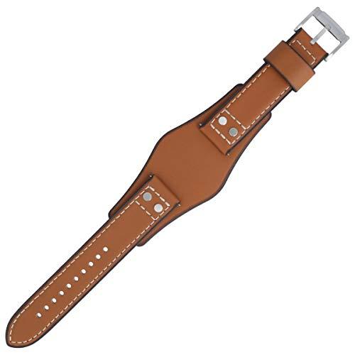 Fossil Uhrenarmband 22 mm Leder Braun Glatt - CH-2986 | LB-CH2986