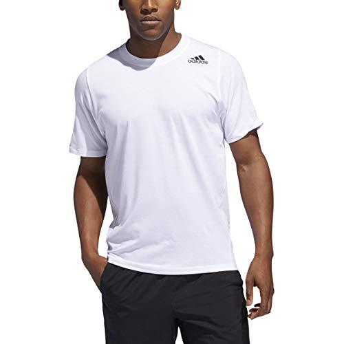 adidas Sport ESS tee Trefoil Camiseta Hombre T-Shirt Originals Retro Blanco/Negro, Tamaño:XL