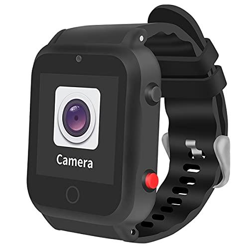FVIWSJ Rastreador GPS Anti-Perdida, Reloj para Ancianos y Niños con Llamada SOS, Seguimiento y Función GeoFence Rastreador GPS Reloj Inteligente Pulsera GPS Inteligente