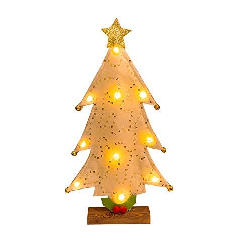 Eastdall Decoração De Natal Para Mesa,Árvores de Natal com luz Enfeites de Natal Mini Árvore de Natal Decoração de Mesa Presentes de Natal Decorações de Natal