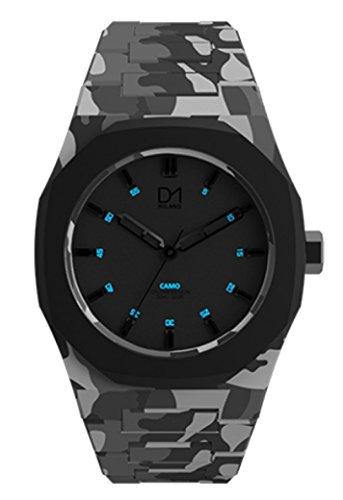 Reloj D1Milano Unisex aca02al cuarzo (batería) policarbonato quandrante negro correa policarbonato