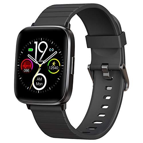 Smartwatch, reloj inteligente con pulsómetro,monitor de oxígeno en sangre, monitor de sueño, podómetro, despertador y cronómetro para Android iOS