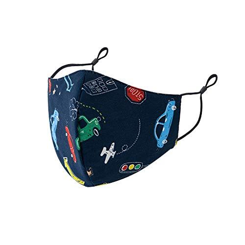 PPangUDing Kinder Mundschutz mit Motiv Waschbar Wiederverwendbar Baumwolle Atmungsaktive Staubdicht Mund und Nasenschutz Halstuch Multifunktionstuch für für Junge Mädchen