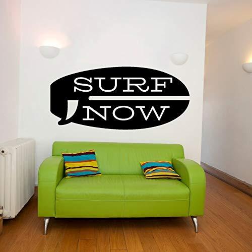 YuanMinglu Diseño de calcomanía de Pared de Tablas de Surf Pegatinas Deportivas de Surf 74x35cm