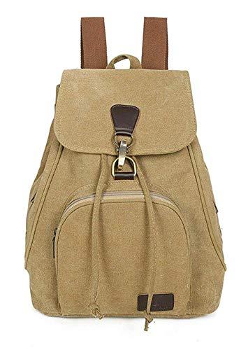 Kleine Leinwand Dayback Feuerzeug atmungsaktiv Schulrucksack Jungen Retro Rucksack Mode TravelLite Multi-Pocket-Solid Color Rucksack (Weiß), Wei