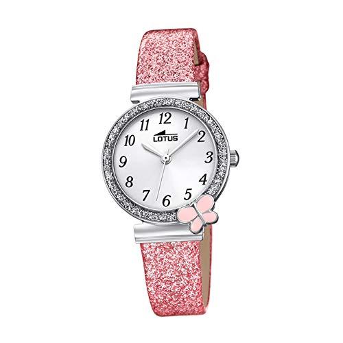 Lotus Mädchen Analog Quarz Uhr mit Nylon Armband 18584/1