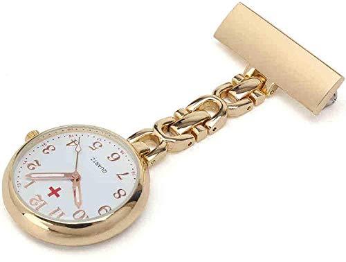 B/H Relojes Bolsillo MéDico Enfermera,Reloj de Bolsillo con Pin de Solapa de Enfermera, Reloj de Bolsillo con Movimiento de Cuarzo Colgante-C