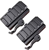 wipboten Tactical Low Profile Picatinny Riser Mount 5-Slot QD Lever Mount Adaptor with Quick Release for Red Dots Scopes and Optics
