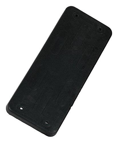 Asiento columpio de goma con placa de metal – Negro