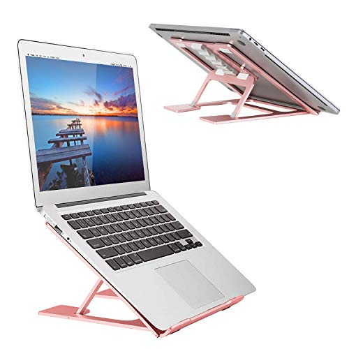 Adjustable Laptop Stand,Ventilated Portable Ergonomic Notebook Riser for Desk,Multi-Angle Adjustable Portable Anti-Slip Mount for MacBook, Surface Laptop, Notebook, 10'-17' Tablet