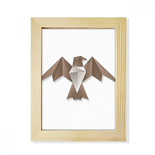 DIYthinker Geometrische abstrakte Adler Origami Muster Desktop-HÖlz-Bilderrahmen Fotokunst-Malerei Passend 15.2 x 20.2cm (6 x 8 Zoll) Bild Mehrfarbig