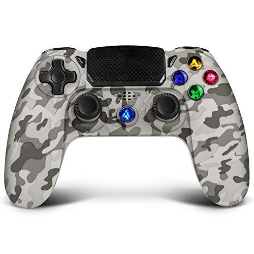Game Controller für PS4, Proslife Game Controller für Bluetooth, Gamepad für Playstation 4/Playstation 3/PC, Touch-Panel Gamepad mit Dual Vibration und Audio Funktion, Game Remote Control