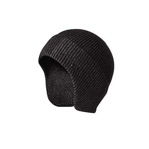 Beanie Sombrero de Hombre - Gorro de Invierno Gorras de Punto Calientes Sombrero Casual para Hombre con Orejeras,Gray