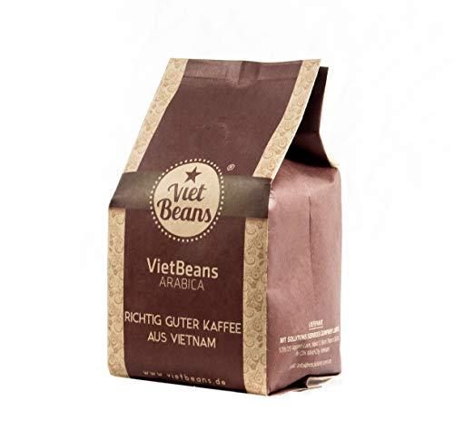VietBeans 100% Arabica - Ganze Arabica Kaffeebohnen - Exklusiver Hochlandkaffee - 250g