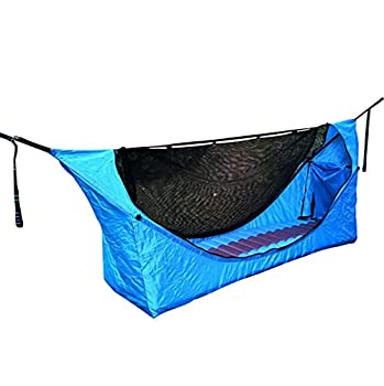 Hamac De Tente De Camping Haven, Filet De Hamac Multifonctionnel, Charge Maximale De 300 Kg, pour L'Extérieur, Le Camping, La Randonnée, Le Trekking (Bleu)