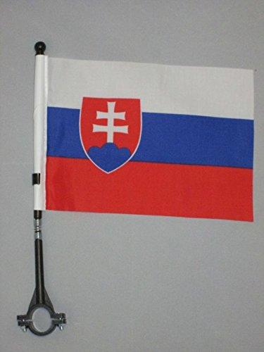 AZ FLAG FAHRRADFAHNE SLOWAKEI 21x14cm - SLOWAKISCHE FAHRRADFLAGGE 14 x 21 cm Fahrrad flaggen