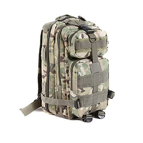 TrendClub100® Militär/BW-Rucksack mit Molle-System - Ideal für Survival, Prepper, Wandern, Outdoor, Camping - Wasserabweisend, 43x26x23 cm, 30 L Inhalt, 6 verfügbare Farben (Tarn Hellgrün)