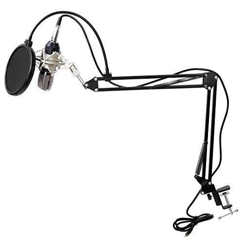 Kuingbhn Soportes de micrófono Podcasting Ajustable Micrófono Condensador con Anti Vibración...