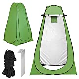 Camping Shower Tent - Pop up Shower Tent Portable Outdoor Shower Tent,Privacy Toilet Changing Room with Carrying Bag, Green