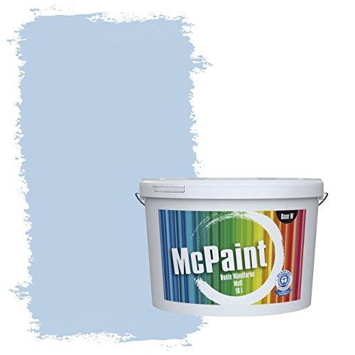 McPaint Bunte Wandfarbe matt für Innen Meerwasserblau 2,5 Liter - Weitere Blaue Farbtöne Erhältlich - Weitere Größen Verfügbar