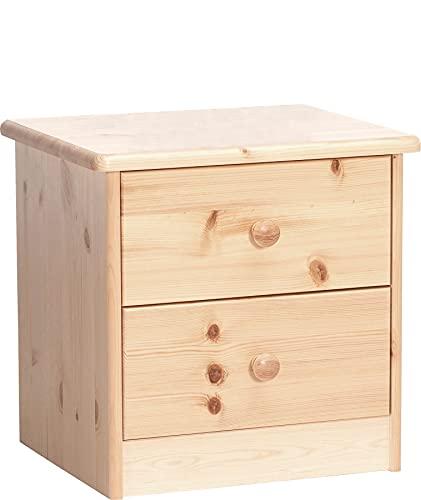 Erst-Holz Solido Comodino in Pino con 2 cassetti 90.20-K02-Ela