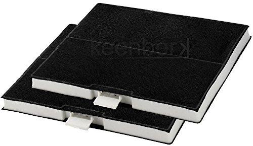 Aktivfilter für Dunstabzugshauben - Ersatz-Aktivkohlefilter für die Siemens-Modelle LZ53250, LZ53251, LZ53650 - Sparset mit 2 Stück